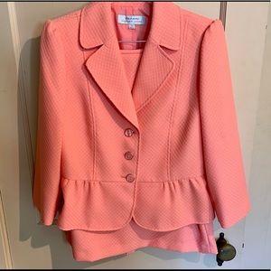 Tahari skirt and jacket set, peach color.